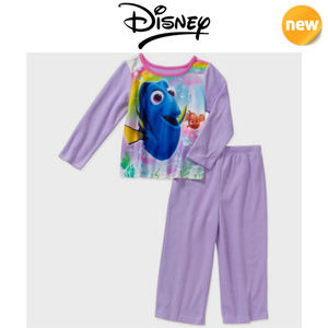 NEW Disney Finding Dory 2 Piece Flannel Pajamas
